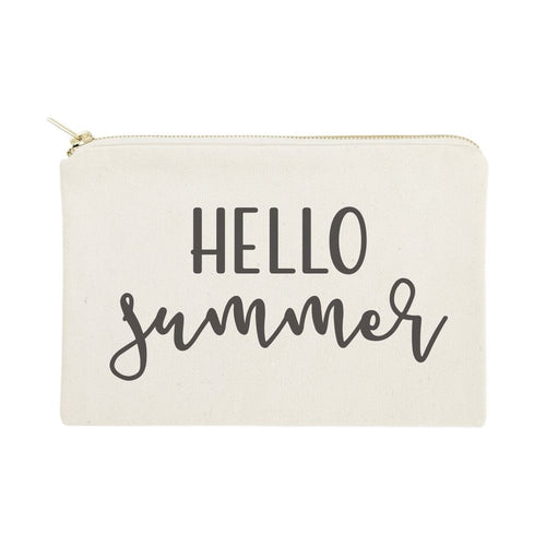Hello Summer Cotton Canvas Cosmetic Bag