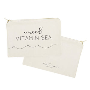 I Need Vitamin Sea Cotton Canvas Cosmetic Bag