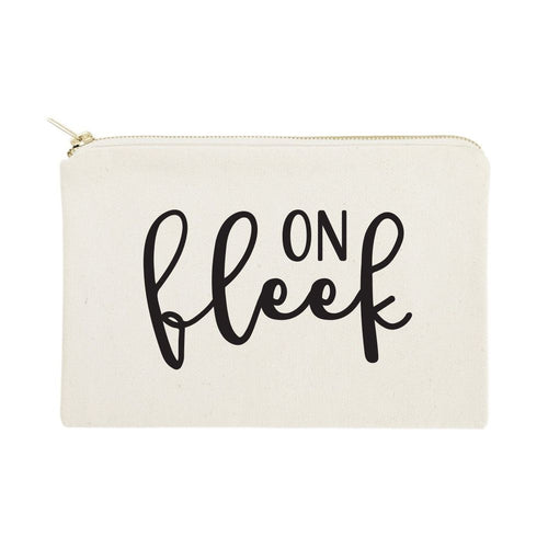 On Fleek Cotton Canvas Cosmetic Bag