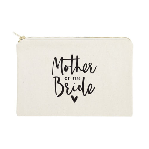Mother of the Bride Cotton Canvas Cosmetic Bag