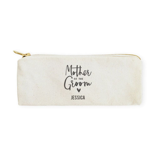 Mother of the Groom Personalized Cotton Canvas Pencil Case and Travel Pouch