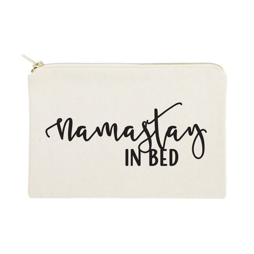 Namastay in Bed Cotton Canvas Cosmetic Bag