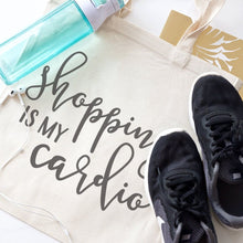 Load image into Gallery viewer, Shopping Is My Cardio Cotton Canvas Tote Bag