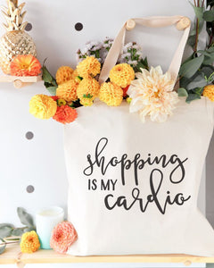 Shopping Is My Cardio Cotton Canvas Tote Bag