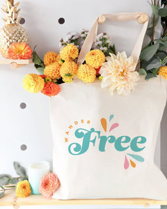 Wander Free Cotton Canvas Tote Bag