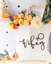 Load image into Gallery viewer, Wifey Wedding Cotton Canvas Tote Bag