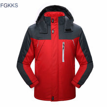 Load image into Gallery viewer, FGKKS Men Winter Parkas Jacket 2019 New Fashion Warm Thick Splice Mens Hooded Coat Male Casual Parkas Overcoat - Starttech Online Market