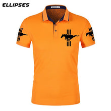 Load image into Gallery viewer, Mustang Polo Shirt for Man Summer Mustang Logo Polo Shirt Short Sleeve Male Cotton Turn-down Collar Tops Polo Shirt Men - Starttech Online Market