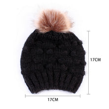 Load image into Gallery viewer, 5 Colors Parent-child Caps with Pompon Warm Raccoon Fur Bobble Mommy Beanie Caps Kids Cotton Knitted Mom Baby Hat Winter Caps - Starttech Online Market