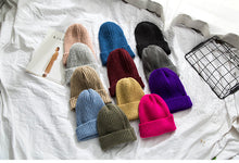 Load image into Gallery viewer, Beanies Women 2019 New Solid Knitted Warm Soft Trendy Hats Simple Korean Style Womens Wool Casual Caps Elegant All-match Beanie - Starttech Online Market