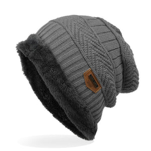 Men's Labeling Knitted Hats fibres Wool Caps Winter 6 Colors choic 24*29cm - Starttech Online Market