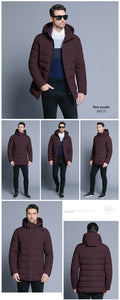 ICEbear 2019 new men's winter  jacket warm detachable hat male short coat fashion casual apparel man brand clothing MWD18813D - Starttech Online Market