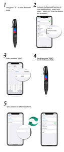 "SERVO K07 Pen mini Cellphone 0.96"" Tiny Screen GSM Dual SIM Camera Flashlight Bluetooth Dialer Mobile Phones with Recording pen - Starttech Online Market"