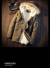 Load image into Gallery viewer, XingDeng Men Coats Winter Casual Mens dressy Tops Jacket Male Slim Thicken Fur Hooded Outwear Warm Coat Top Brand Clothing - Starttech Online Market