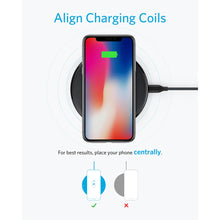 Load image into Gallery viewer, Anker 10W Wireless Charger,Qi-Certified Powerwave Pad Upgraded,7.5W for iPhone,10W Fast-Charging for Galaxy S10/S9/S8/Note 9etc - Starttech Online Market