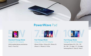 Anker 10W Wireless Charger,Qi-Certified Powerwave Pad Upgraded,7.5W for iPhone,10W Fast-Charging for Galaxy S10/S9/S8/Note 9etc - Starttech Online Market