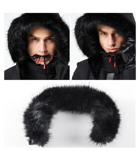 2019 Long Parka Men Thick Cotton Padded Down Warm Cold Coat Male Designer China Red Black Autumn Fur Hooded Winter Jacket Men - Starttech Online Market