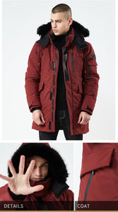 2019 Men's Winter Jacket Men Hooded Coat Thick Casual Outwear Parkas Hombre padded windproof cotton Windbreaker warm coat DA005 - Starttech Online Market