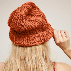Winter Women Hat 2019 New Autumn Faux Fur Female Warm Cap Knitted Beanie Girl Hats Woman Bonnet Femme Chunky Thick Stretchy Hats - Starttech Online Market