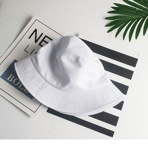 Harajuku Fisherman Hat Woman Spring Summer Sunshade Hat Man Candy Color Flat Top Bucket Hats Head Outdoor Bucket Caps Cotton New - Starttech Online Market