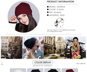 Warm Beanie 2019 Fashion Autumn Hats For Women Winter Brand New Lattice Cotton Knitted Hat Female Skullies Beanies Lady Bonnet - Starttech Online Market