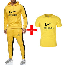 Load image into Gallery viewer, Men Sets Hoodies Sportswear Tops and Pants+Tshirts sets men track suits 2019 Casual Solid 3 piece Suit Sweat suit male clothes - Starttech Online Market