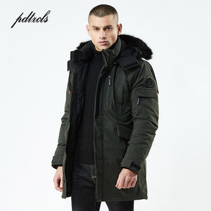 2019 New Winter Casual Long Style Hooded Epaulet Cotton Padded Jackets Men Thick Hat Windproof Fashion Men Parka Pockets Coats - Starttech Online Market