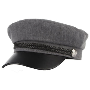 New High Quality Casual Military Cap Man & Woman Cotton Beret Flat Captain Cap Trucker Vintage Sport - Starttech Online Market