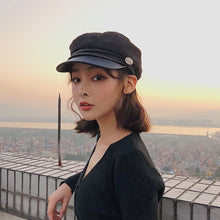 Load image into Gallery viewer, Fashion Lace cotton hat cap women Casual streetwear rope flat cap Elegant solid spring and autumn warm beret hat female - Starttech Online Market