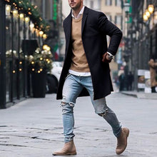Load image into Gallery viewer, Mens Wool Jackets Winter Men's High-quality Wool Coat Casual Slim Collar Wool Coat Men's Long Cotton Collar Trench Coat - Starttech Online Market