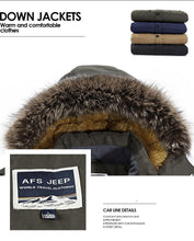 Load image into Gallery viewer, Plus Size L-6XL Winter Down Jacket Men Parkas New 2017 Warm Windbreak Thick Velvet Loose Leisure Original Brand AFS JEEP Clothes - Starttech Online Market