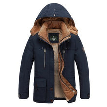 Load image into Gallery viewer, New Men Winter Jackets and Coats High Quality Thick Fleece Cotton Padded Hooded Fashion Casual Coat Khaki Military Coat 4XL - Starttech Online Market