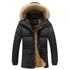 Aismz New Winter Men Down & Parkas Cotton-padded Jackets Men' s Casual Down Jackets Thicken Coats OverCoat Warm Clothing Big 5XL - Starttech Online Market