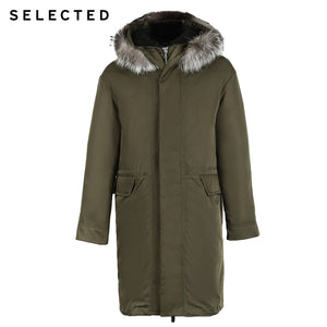 SELECTED Men's Winter Down Jacket Duck Down Fox Fur Medium-style Down Coat Warm Clothes S | 418412584 - Starttech Online Market