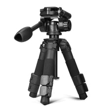 Load image into Gallery viewer, QZSD Q166S Aluminum Alloy Portable Traveling Desktop Mini Tripod Monopod Selfie Sticker with Ball Head for DSLR Cameras Phones - Starttech Online Market