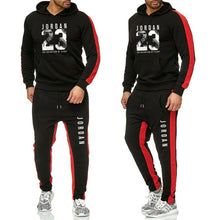 Load image into Gallery viewer, New 2019 Brand Tracksuit Classic Jordan23 Men Sportswear Two Piece Sets All Cotton Fleece Thick Hoodie+pants Sporting Suit Male - Starttech Online Market