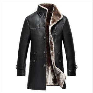 Men Snow Jacket parka real fur Mens In One Long Plush And Thick Overcoat In Winter Sheepskin Jacket Men Keep Warm 2018 Style - Starttech Online Market