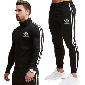 2019 New fashion Print Men Sport Set Spring Tracksuit long Sleeve Hoodie Sweatshirt GYM Fitness Pants Workout Running Suit - Starttech Online Market