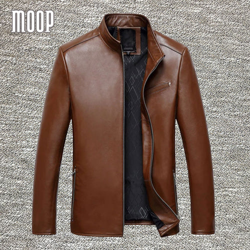 4Colors genuine leather jacket coats men sheepskin coat business jackets chaqueta moto hombre veste cuir homme cappotto LT047 - Starttech Online Market