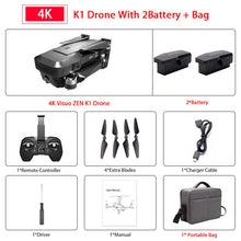 Load image into Gallery viewer, Visuo ZEN K1 GPS RC Drone with 4K HD Dual Camera Gesture Control 5G Wifi FPV Brushless Motor Flight 28mins