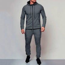 Load image into Gallery viewer, Men's Autumn Hoodies Tracksuit Set Male Zipper Pleated  Sweatshirt Sweatpants High Street Jackets Sets M-3XL - Starttech Online Market