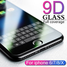 Load image into Gallery viewer, 9D protective glass for iPhone 6 6S 7 8 plus X glass on iphone 7 6 8 X R XS MAX screen protector iPhone 7 6 screen protection XR - Starttech Online Market