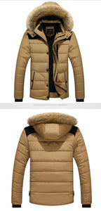 DIMUSI Mens Winter Jacket Male -25 'C Thick Thermal Cotton Parka Coats Mens Casual Faux Fur Collar Hoodies Jackets 6XL,TA270 - Starttech Online Market