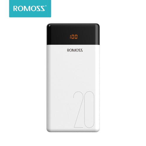 20000mAh ROMOSS LT20 Power Bank Dual USB External Battery With LED Display Fast Portable Charger For Phones Tablet Xiaomi - Starttech Online Market