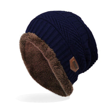 Load image into Gallery viewer, Men's Labeling Knitted Hats fibres Wool Caps Winter 6 Colors choic 24*29cm - Starttech Online Market