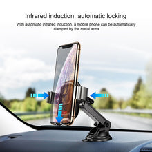Load image into Gallery viewer, Baseus Qi Car Wireless Charger For iPhone Xs Max Xr X Samsung S10 S9 Intelligent Infrared Fast Wirless Charging Car Phone Holder - Starttech Online Market