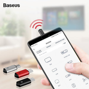 Baseus Mini Universal Remote Control For Samsung LG Air Mouse USB Type C Smart IR Controller Adapter For Android TV Aircondition - Starttech Online Market