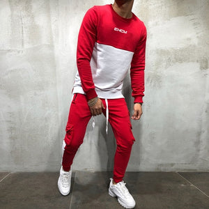 Hip Hop Men 2 Pieces Sets  Sportswear +Multi-Pocket Pant Chandal Hombre Sporting Track-suit - Starttech Online Market