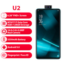 "Load image into Gallery viewer, Elephone U2 16MP Pop Up Camera Mobile phone Android 9.0 MT6771T Octa Core 6GB+128G 6.26"" FHD+ Screen Face ID 4G LTE Smartphone - Starttech Online Market"