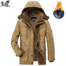 Load image into Gallery viewer, Brand Winter Jacket Men size 5XL 6XL Warm Thick Windbreaker High Quality Fleece Cotton-Padded Parkas Military Overcoat clothing - Starttech Online Market